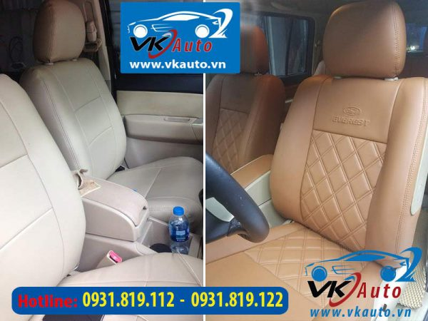 may nệm da xe ford everest
